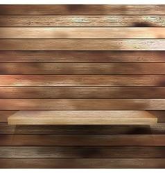 Wood shelf for exhibit EPS 10 vector image