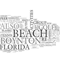 youth activities at boynton beach florida text vector image