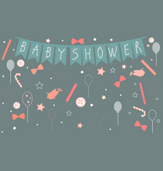 baby shower party celebration of a newborn vector image vector image