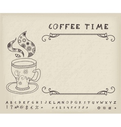 Coffee Vintage Background vector image vector image