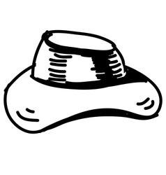 Hat sketch icon vector image