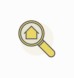 house in magnifying glass icon vector image