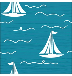 Yacht Pattern vector image