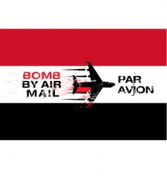 Yemen flag and explosives vector image vector image