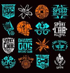 Car and biker culture badges vector image vector image