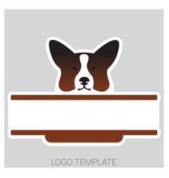 dog head of welsh corgi breed vector image vector image