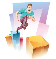Jumping Up vector image vector image