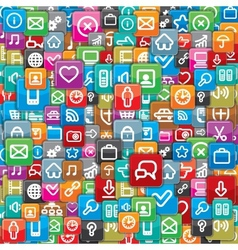 Pattern from a Different Apps Icons vector image vector image