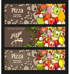 Pizza flyer vector image