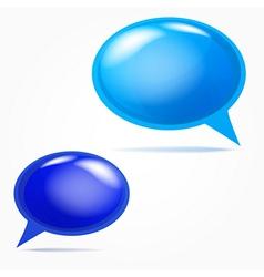Plastic bubbles for speech vector image vector image
