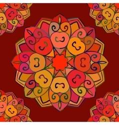 Seamless pattern color mandala vector image