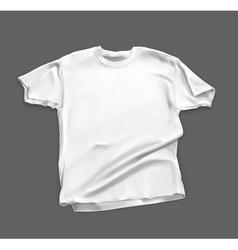 Blank white shirt vector image