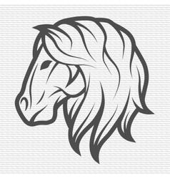 Horse symbol logo emblem vector image