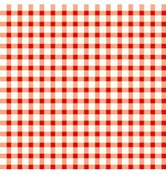 Seamless retro white-red square tablecloth vector image