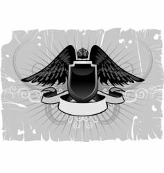 shield emblem with wings vector image
