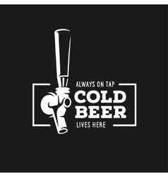 Beer tap with quote vintage vector image