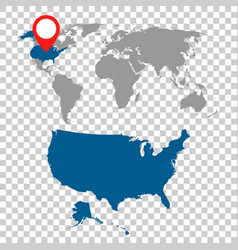 detailed map of usa and world map navigation set vector image