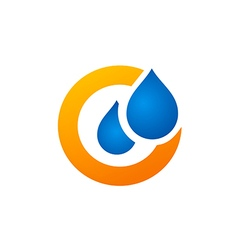 Water drop symbol logo vector