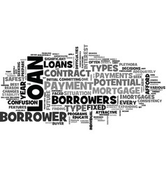 what are the riskiest types of mortgages loans vector image vector image