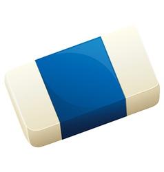 A topview of an eraser vector image vector image