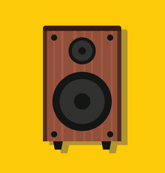 Audio speaker in flat style with shadow vector