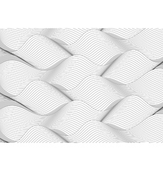 Black and white wavy lines pattern vector image
