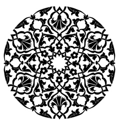 Black oriental ottoman design twenty four vector