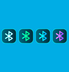 bluetooth wireless icons set vector image