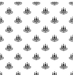 bowling club pattern seamless vector image
