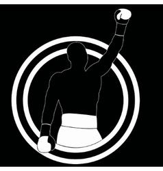 Boxer winner - simple vector image