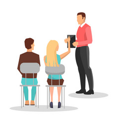 business training employees vector image