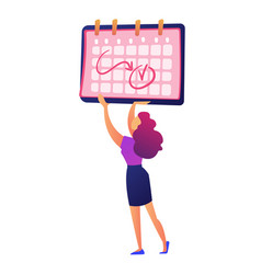 businesswoman holding calendar with notes vector image