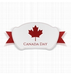 Canada Day realistic Label with Ribbon vector image