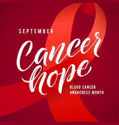 Cancer hope blood cancer awareness label vector