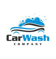 car wash logo design vector image
