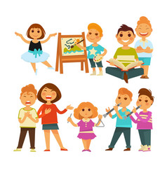 children kindergarten or school playing activity vector image