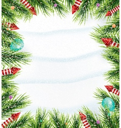Christmas background with white snowflake vector image
