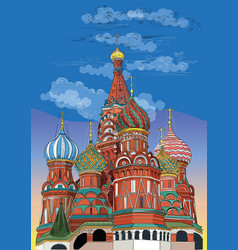 Colorful hand drawing moscow-6 vector
