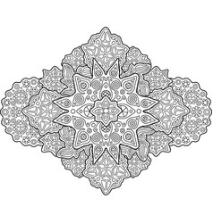 coloring book page with cosmic pattern with stars vector image