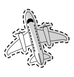 commercial airplane icon image vector image