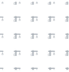 Construction crane icon pattern seamless white vector