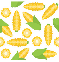 corn seamless pattern for wallpaper or wrapping vector image