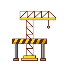 crane construction with barricade vector image
