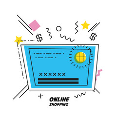 credit card shopping online icon vector image