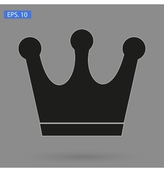 Crown Icon in trendy flat style isolated on grey vector image