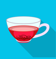 design glass and hibiscus symbol vector image