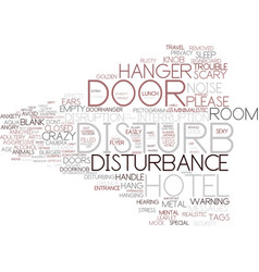 Disturbance word cloud concept vector