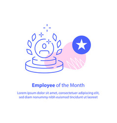 Employee month concept best performance vector