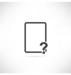 Empty Question Icon vector