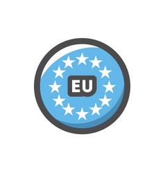 europe union round sign icon cartoon vector image